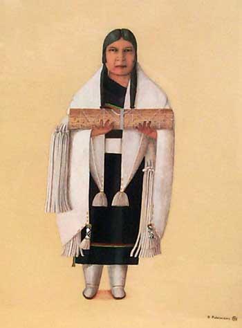 Hopi Bride Painting By Otis Polelonema Fine Art Native