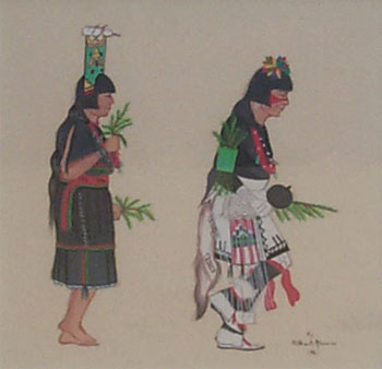 Fine Art Native American Paintings Early Native