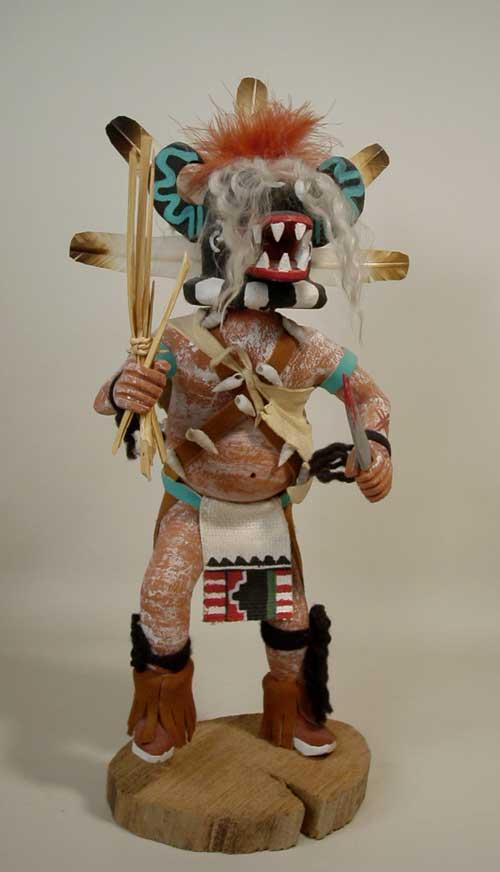 Hopi Black Ogre Katsina Doll By George Pooley Kachina