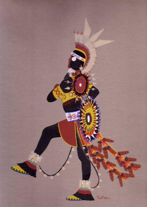 Kiowa Indian Art Portfolio By Monroe Tsatoke Fine Art