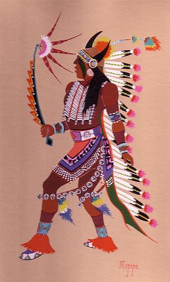Albuquerque To Santa Fe >> Kiowa Indian Art Portfolio by Stephen Mopope - Fine Art ...