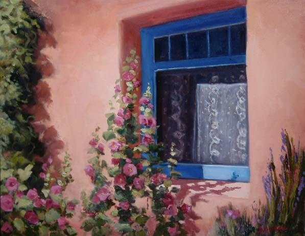 La Ventana Azul The Blue Window Painting By Barbara
