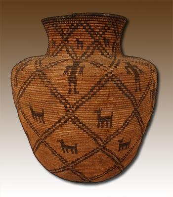 apache jar circa 1900   southwest indian baskets   yavapai apache