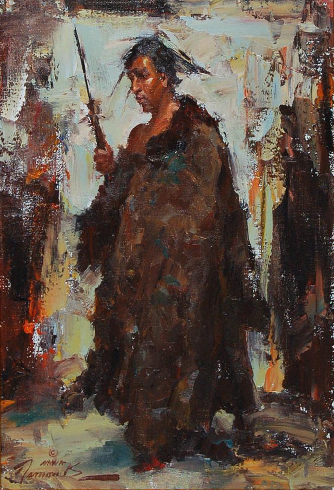 Canvas Santa Fe >> Ramon Kelley Painting 17437 - Adobe Gallery, Santa Fe