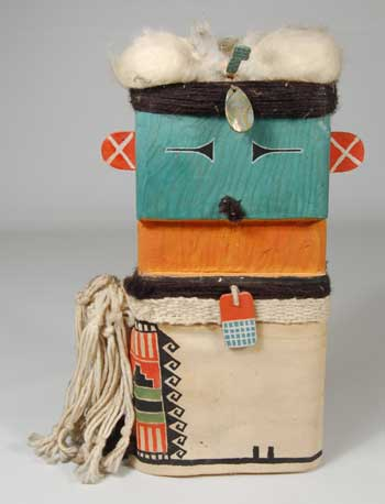 Folk Art Carving Of Katsina By J Michael Bear Kachina