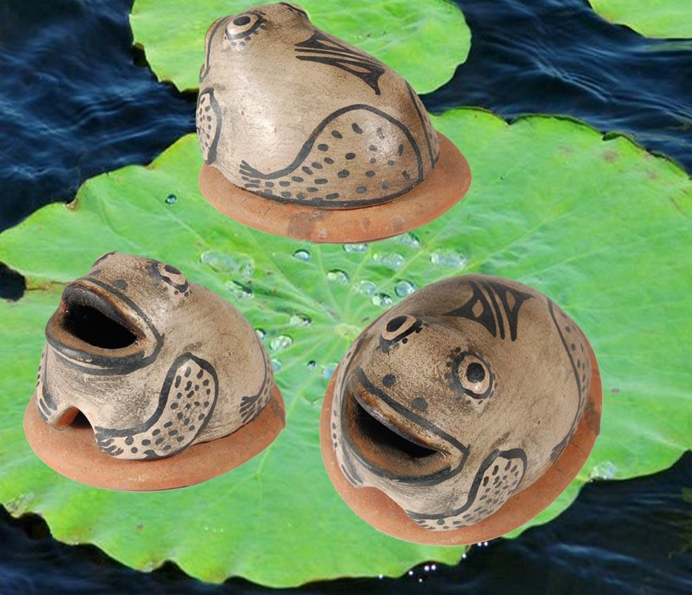 Cochiti Pueblo Frog Incense Burner Figurine Sold Adobe