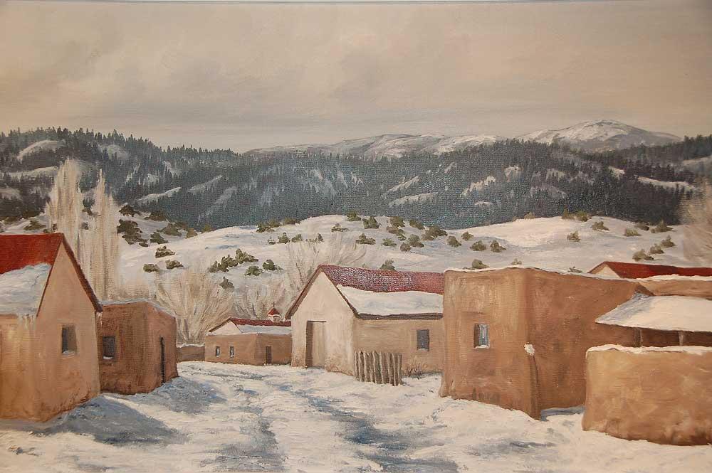 Betty Sabo Painting Sc3108 Adobe Gallery Santa Fe