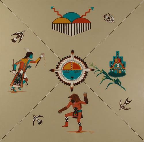 Fine Art | Native American Paintings | Native American Artwork | Hopi Tewa Pueblo | Raymond Naha ...
