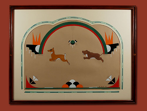 Fine Art Native American Paintings Native American Artwork San Ildefonso Pueblo Romando
