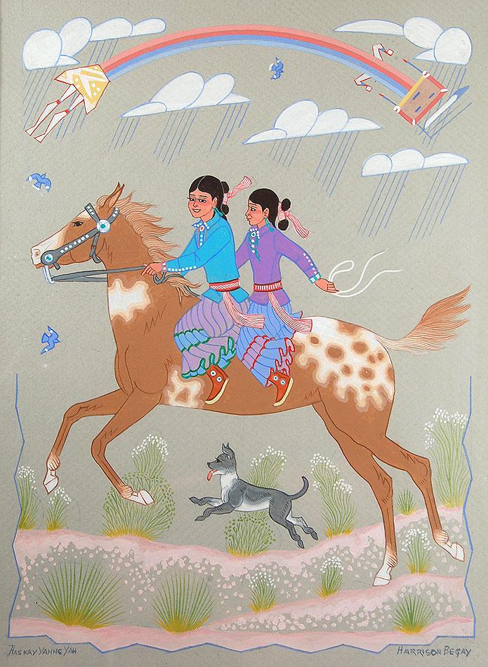 Fine Art Native American Paintings Native American Artwork Din 233 Navajo Nation Harrison