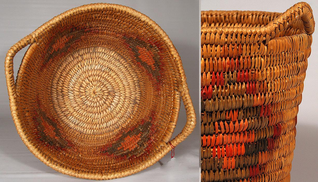 Jicarilla Apache Polychrome Basket Southwest Indian