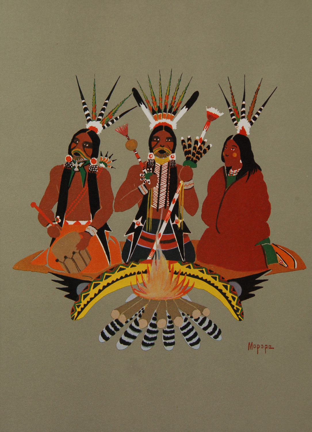 Kiowa Indian Art Portfolio Bell Editions 1979 Adobe