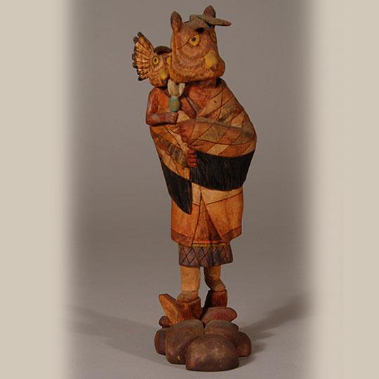 Kachina Katsina Dolls Hopi Pueblo Contemporary Brian Honyouti Great Horned Owl Woman