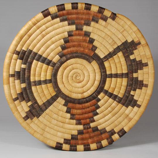 Hopi Second Mesa Coiled Pictorial Basket Southwest
