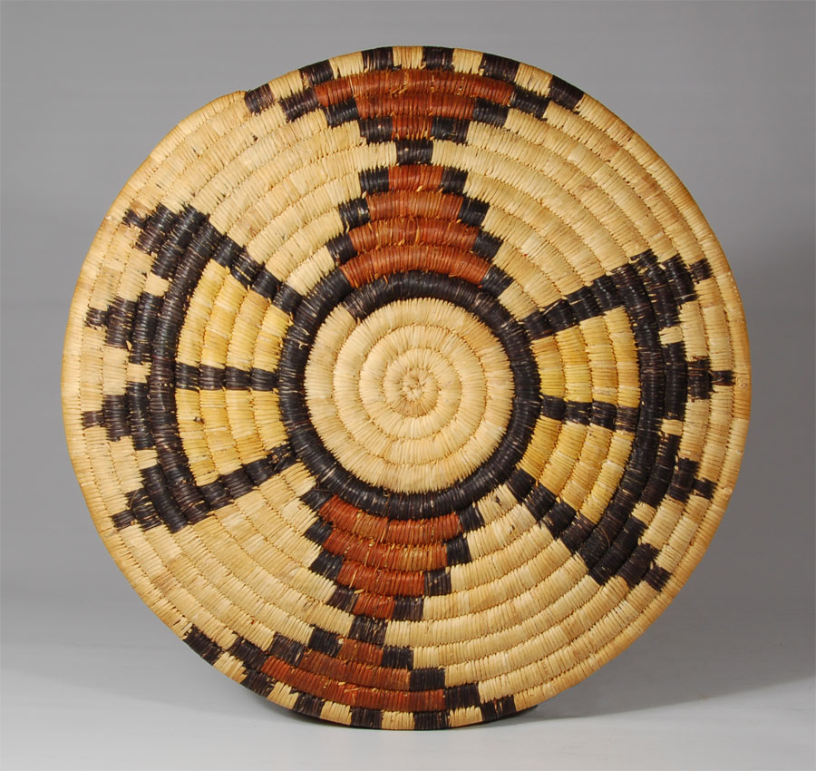 Hopi Second Mesa Coiled Pictorial Basket Southwest