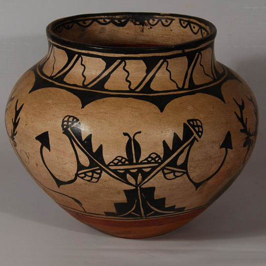 cochiti pueblo pictorial polychrome olla southwest indian pottery