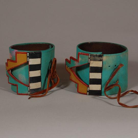Other Fine Southwest Collectibles Dance Paraphernalia Pueblo Pueblo Leather Painted Arm