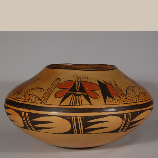Hopi Very Large Polychrome Seed Jar By Grace Chapella