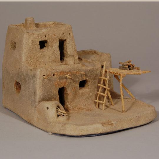Southwest Indian Pottery Zia Pueblo Contemporary Taos Pueblo Micaceous Multi Storied House