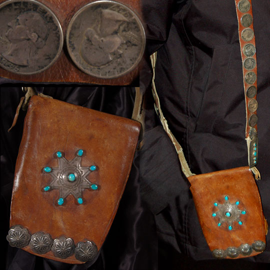 Din 233 Navajo Leather Medicine Bag With Embellishments Other