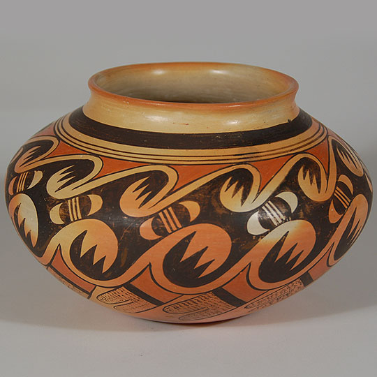 Hopi Polychrome Jar with Migration Pattern  SOLD Hopi Pottery Designs