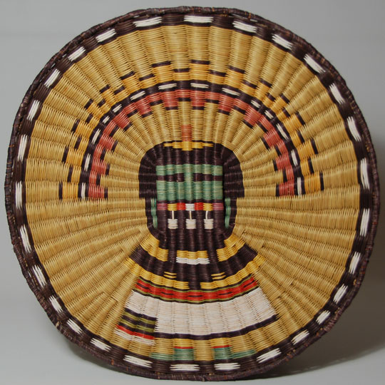 Hopi Third Mesa Wicker Angak China Katsina Image Plaque