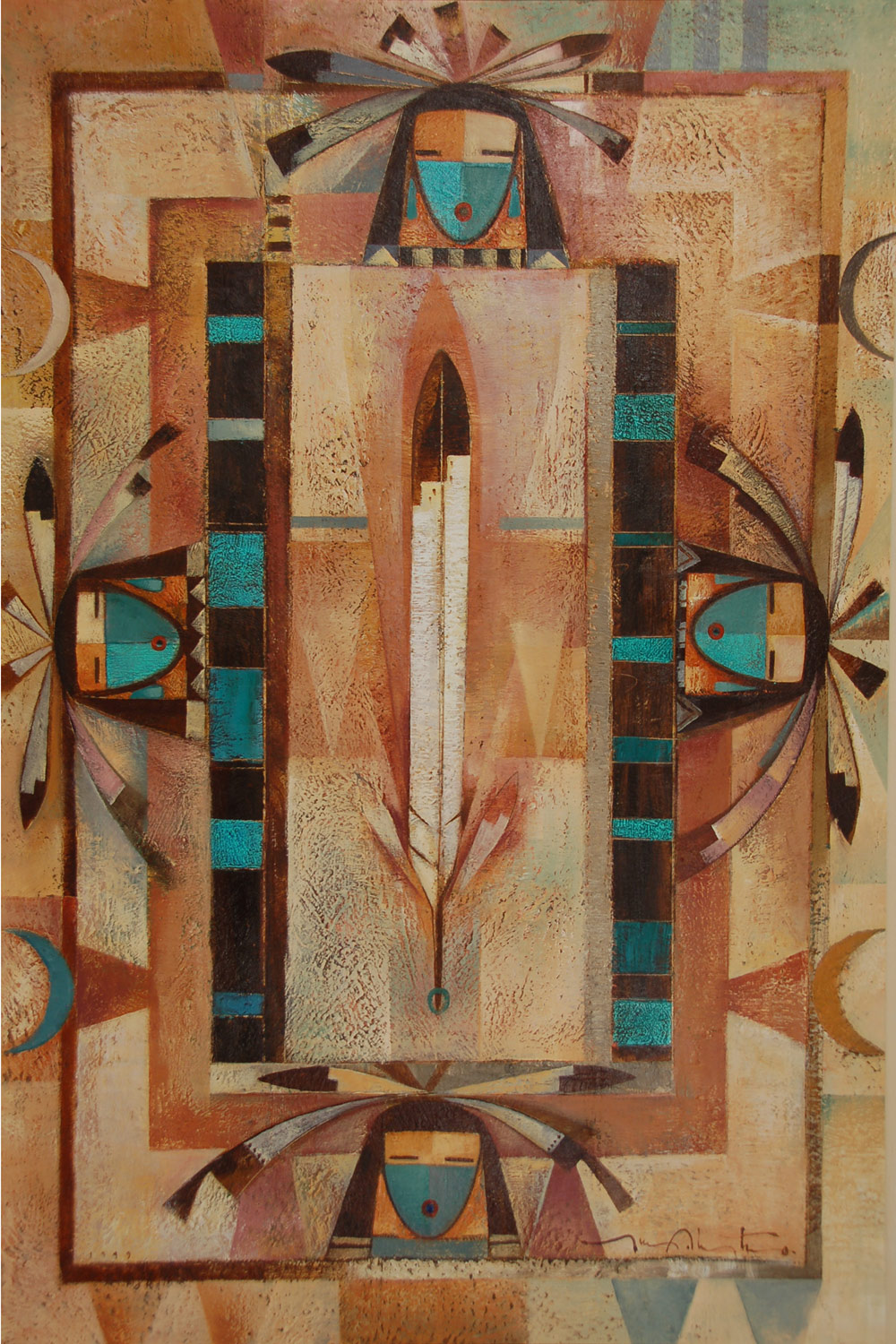 Canvas Santa Fe >> Fine Art | Native American Paintings | Native American Artwork | Diné | Navajo | Tony Abeyta ...
