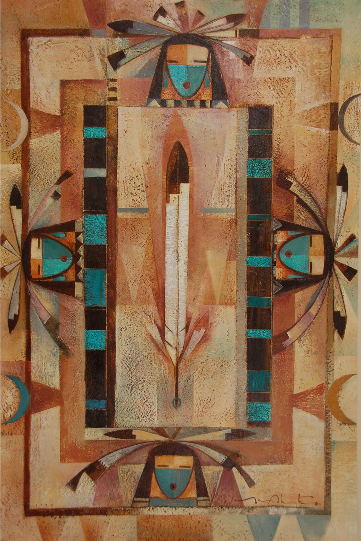 Fine Art Native American Paintings Native American Artwork Din 233 Navajo Tony Abeyta