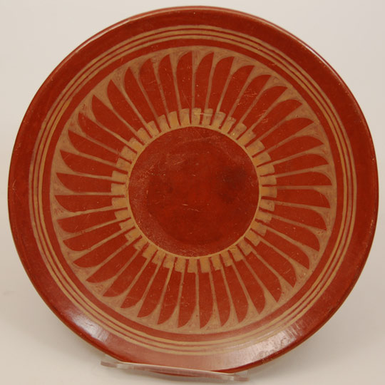 Southwest Indian Pottery Contemporary San Ildefonso Pueblo Maria Martinez Buff On Red