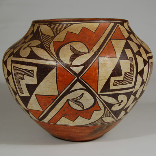 Southwest Indian Pottery Historic Acoma Pueblo Potter Unknown Acoma Pueblo Polychrome