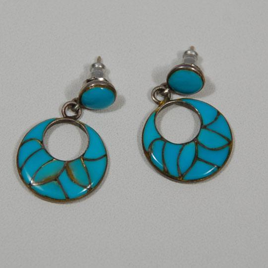 Zuni Earrings: Southwest Indian Jewelry