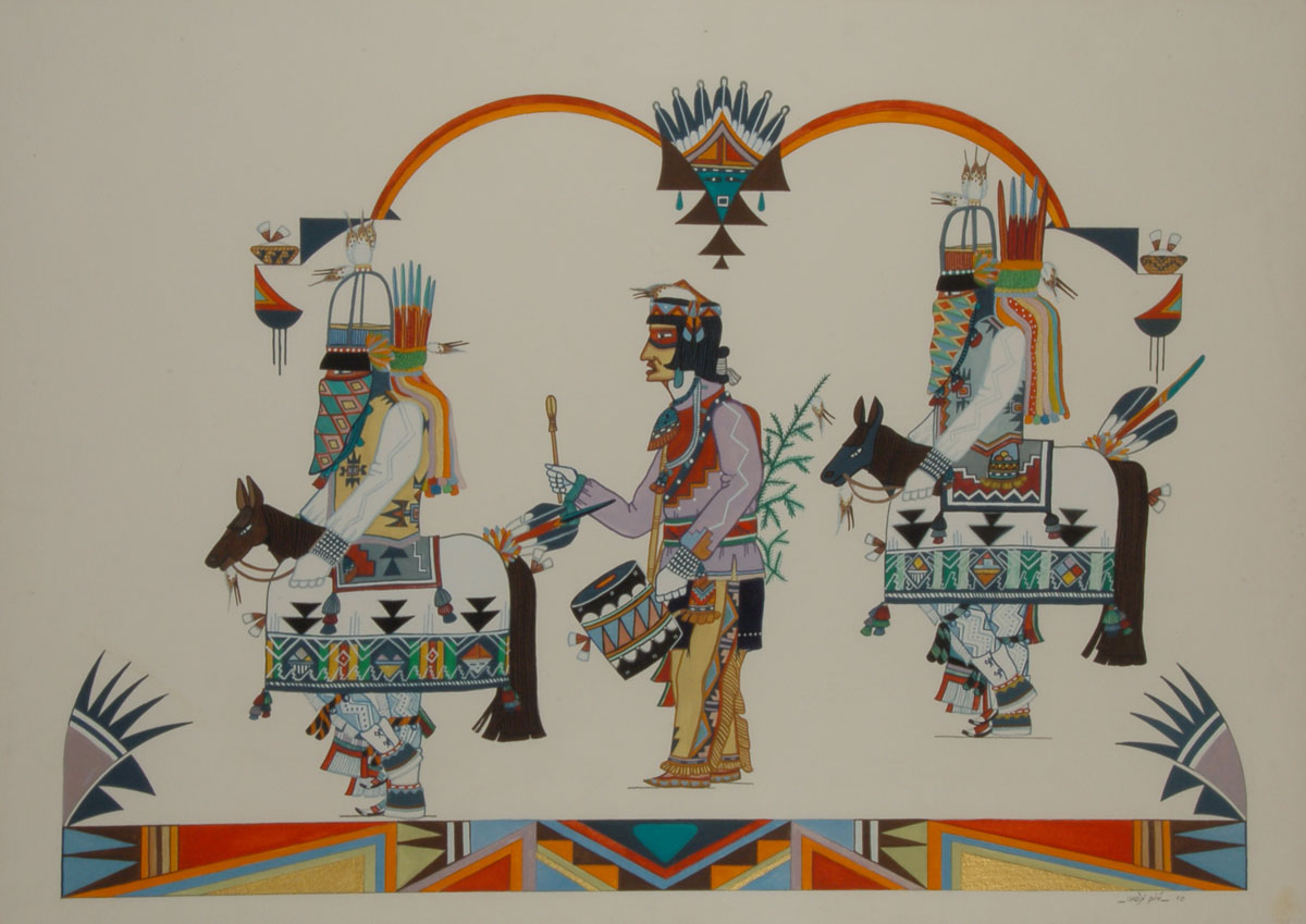 Fine Art Indian Native American Paintings Art