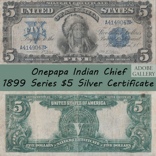 Us Paper Money With Native American C3190r Adobe Gallery