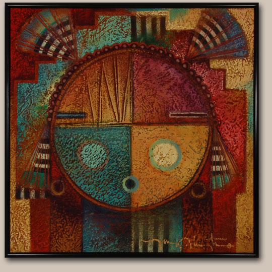 Native Painting Tony Abeyta C3648c Adobe Gallery Santa Fe