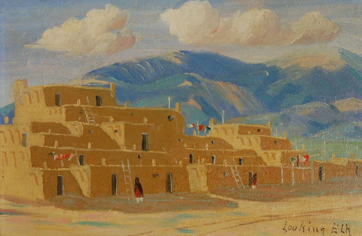 Native Painting Albert Martinez 25743 Adobe Gallery Santa Fe