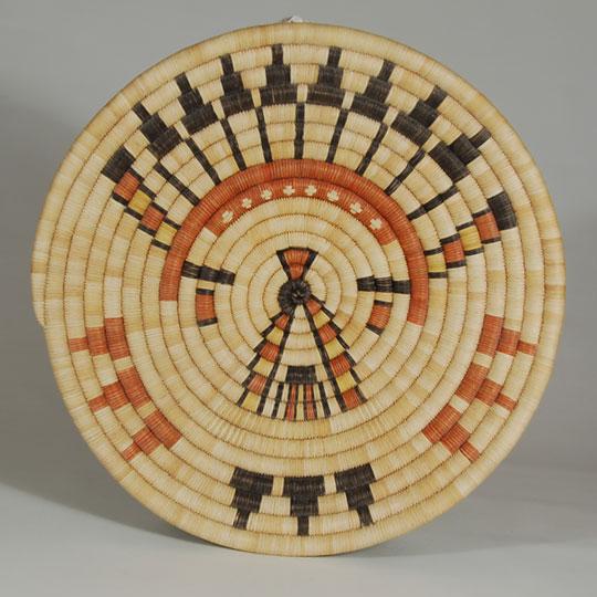 Hopi Pueblo Native Basket C3736p Adobe Gallery Santa Fe