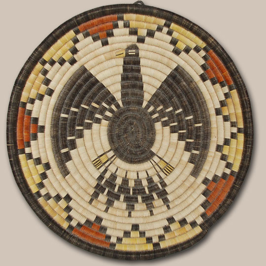 Native American Basket Hopi Pueblo C3736o Adobe Gallery Santa Fe