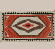 Crystal Trading Post Bordered Navajo Rug