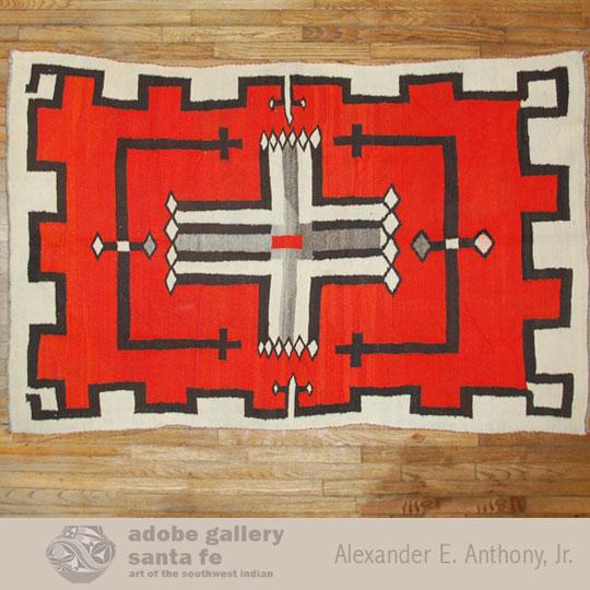 Navajo Textile Rug C3891a Adobe Gallery Santa Fe