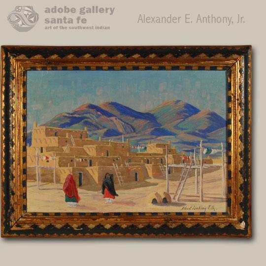 Native American Painting C3982a Adobe Gallery Santa Fe