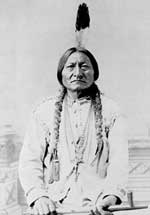 Sitting Bull, a Hunkpapa Lakota chief and holy man, circa 1885.
