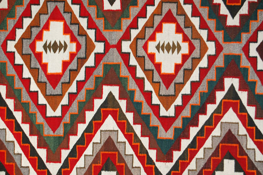Close up view of a section of this rug.
