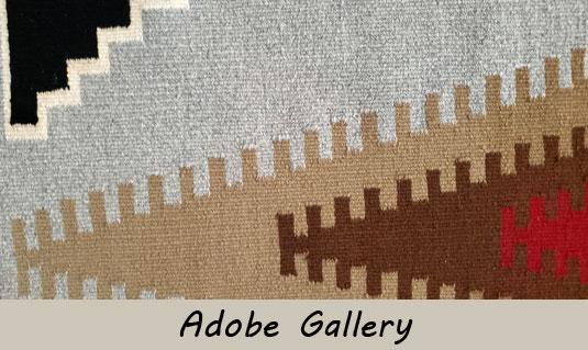 Close up view of this Navajo textile.
