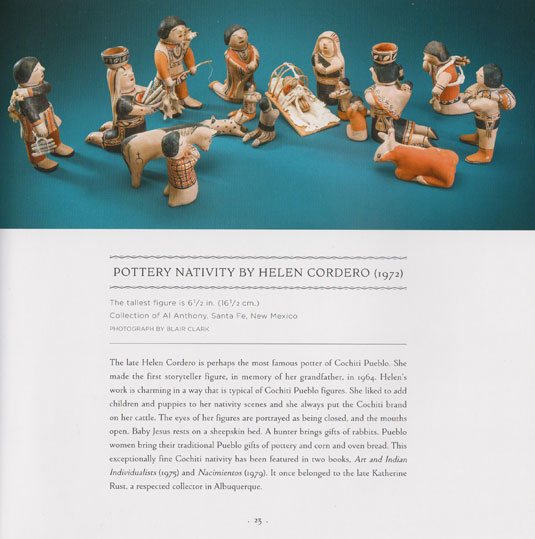 This nativity set is featured in the new book by Susan Topp Weber, page 23: Nativities of the Southwest.