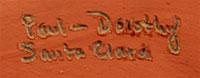 Paul & Dorothy Gutierrez Southwest Indian Pottery Figurines Santa Clara Pueblo signature