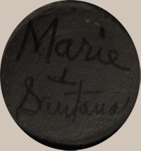 Maria Montoya Poveka Martinez (1887-1980) Pond Lily (Marie + Santana) signatures