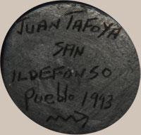 Juan Tafoya (1949 - 2006) signature