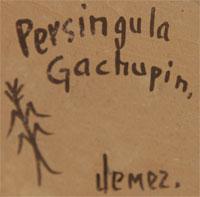 Persingula M. Gachupin (1910-1994) signature