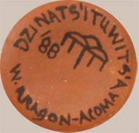 Artist Signature and Hallmark - Wanda Aragon (1948 – present) Dzinats'ituwits'a