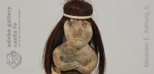 Close up view of Mojave doll face.